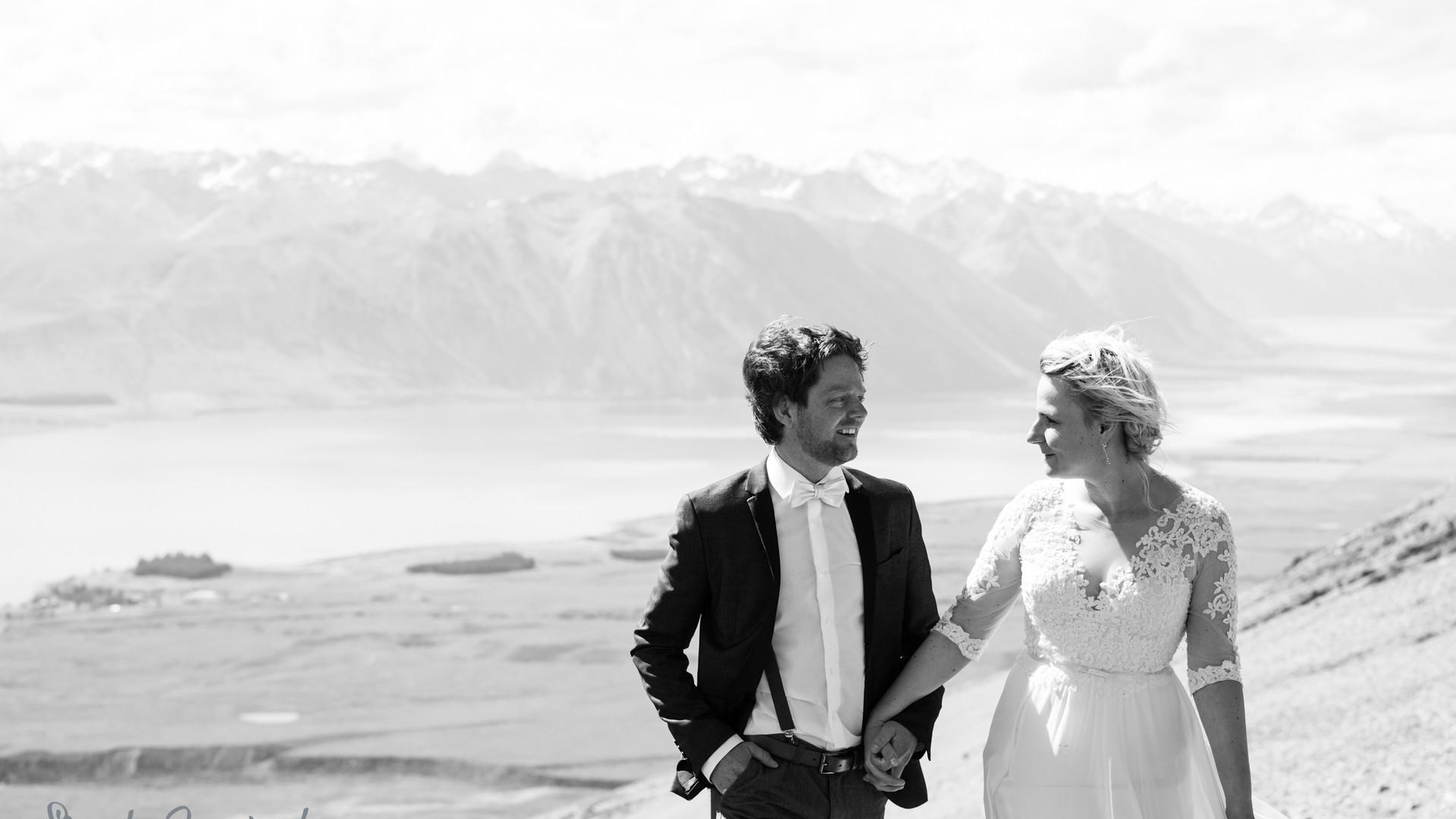 Michi & Judith - Lake Tekapo Wedding - S