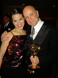 Hank Wasiak & Shirley Rumerik at Emmy Awards