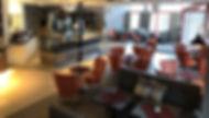 Konditori Bivur i Arbog. Interiörbild på cafédelen med ca 70 sittpatser för våra gäster.
