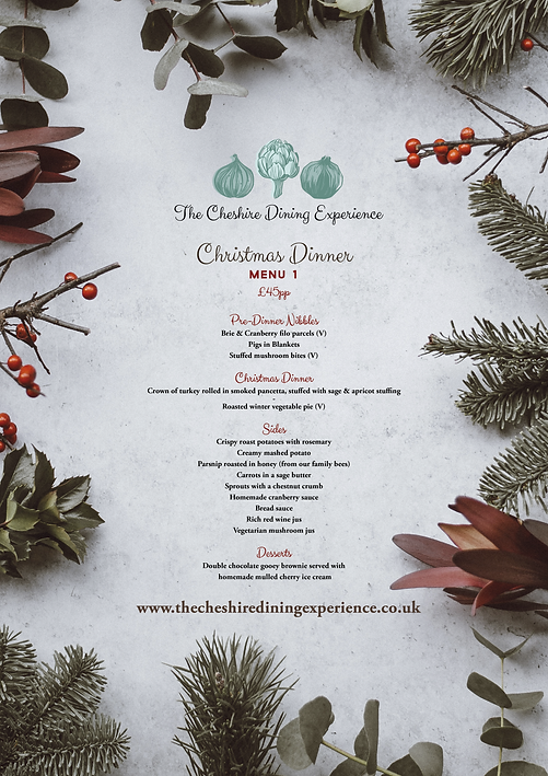 The Cheshire Dining Experience | Wedding Catering & Event Catering | Christmas Menu