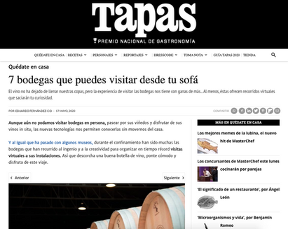 Bodega Otazu y Familia Fernández Rivera en Tapas