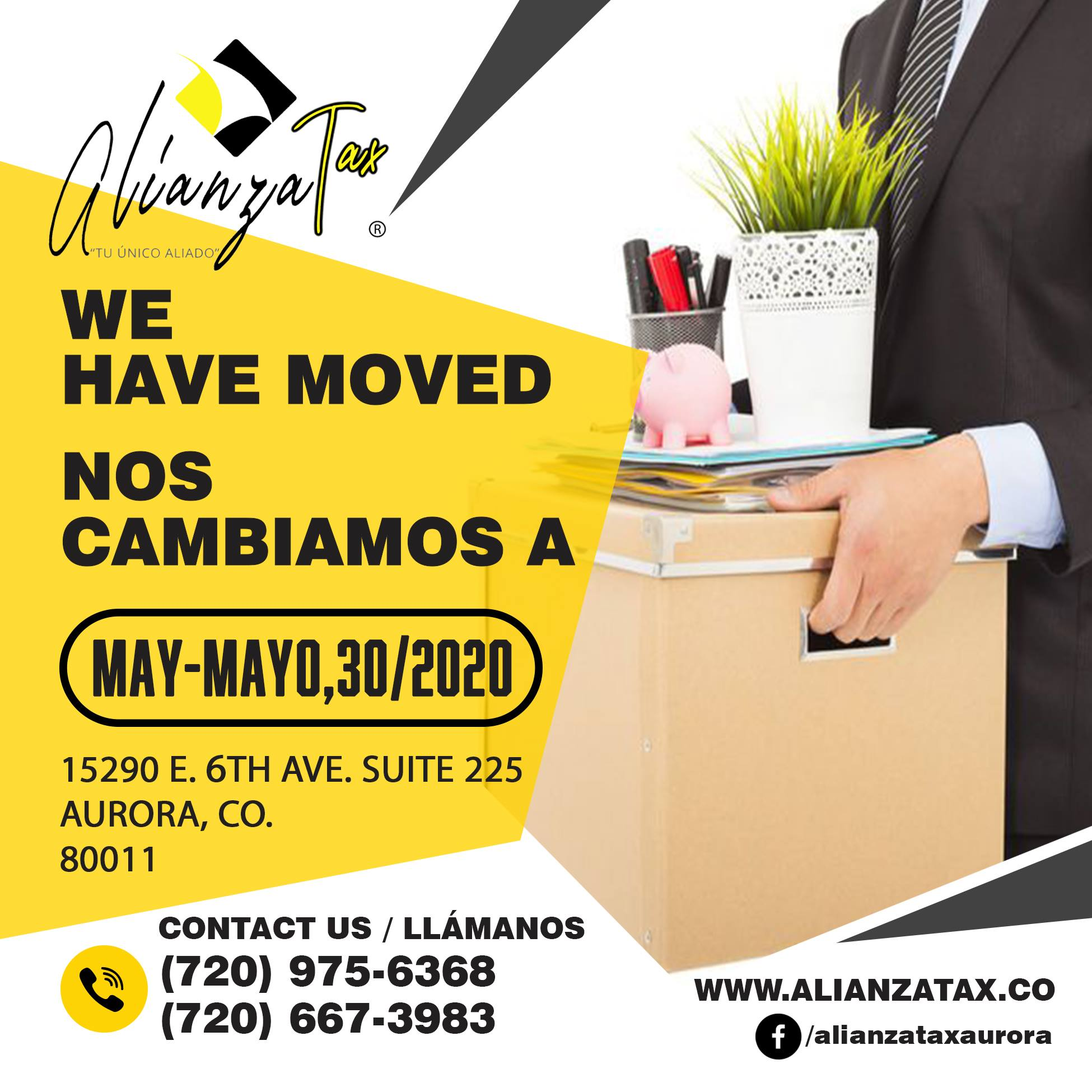 ALIANZA TAX WE HAVE MOVED