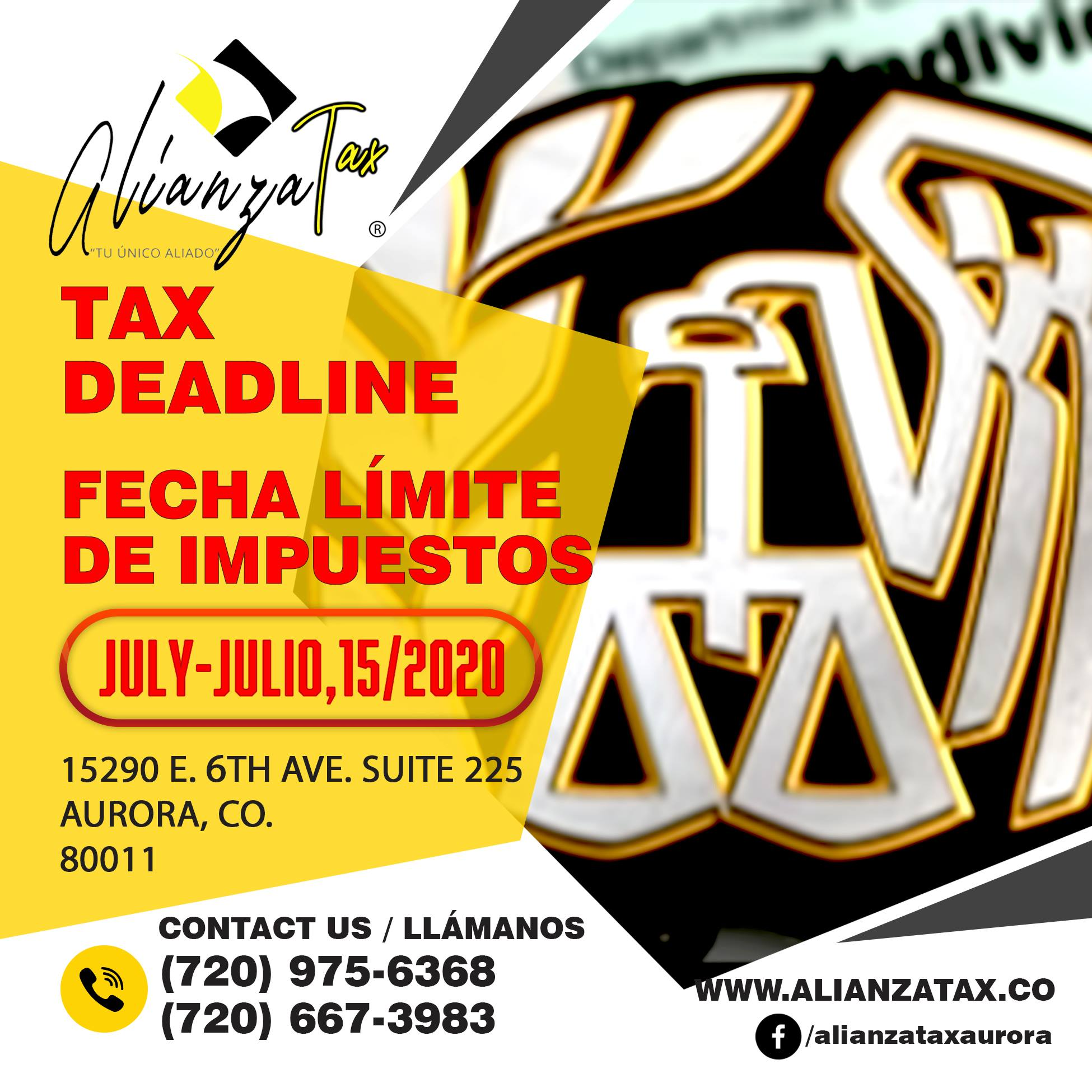 ALIANZA TAX DEADLINE 2020