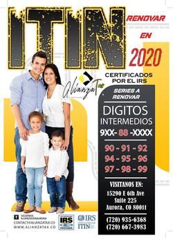 ALIANZA TAX RENEW ITIN 2020