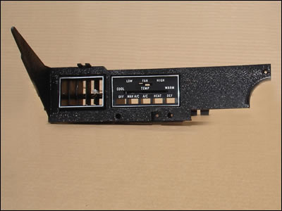1970-74 E-body A/C Heater Control Panel Assembly