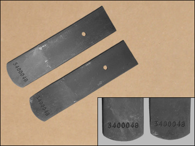 1970-1/2 AAR & T/A Leaf Spring Lower Leafs, with Numbers. Used on All T/As and AARs. #3400048