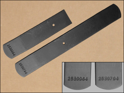 Late 1968, 1970-1971 B-Body Heavy Duty Leaf Spring Lower Leafs, with Numbers
