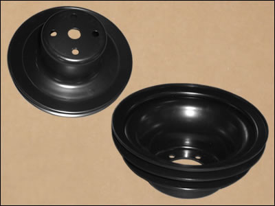 Upper Pulley / 2-Groove Power Steering Lower Crank Pulley