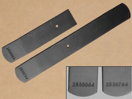 Late 1968, 1970-1971 B-Body Heavy Duty Leaf Spring Lower Leafs, with Numbers. Used on Hemis and 440s. #2539794 & #2539964