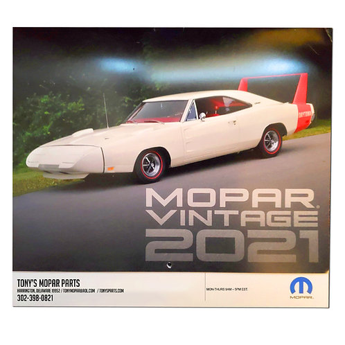 Tony's Parts Mopar 2021 Calendar