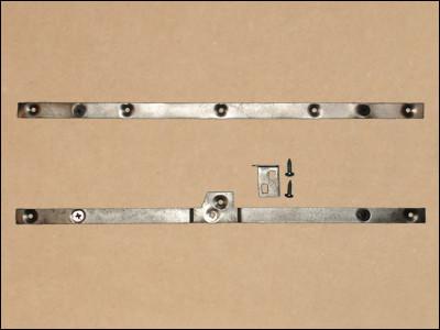 1966-70 B-Body Console Door Hinge & Lock Anchor Strips & Glove Box Latch Catch Tab