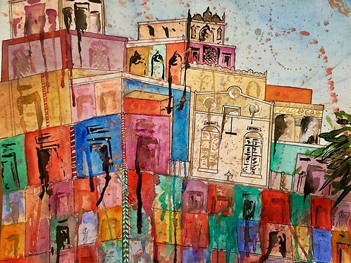 Custom Watercolor Landscape A3