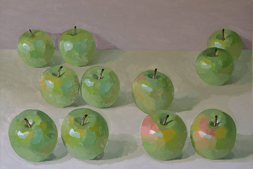 Eleven Green Apples