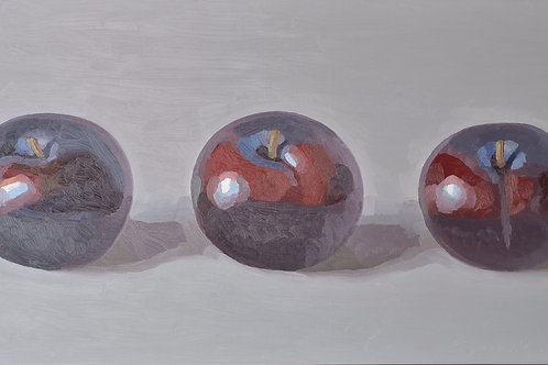 Three Red Plums