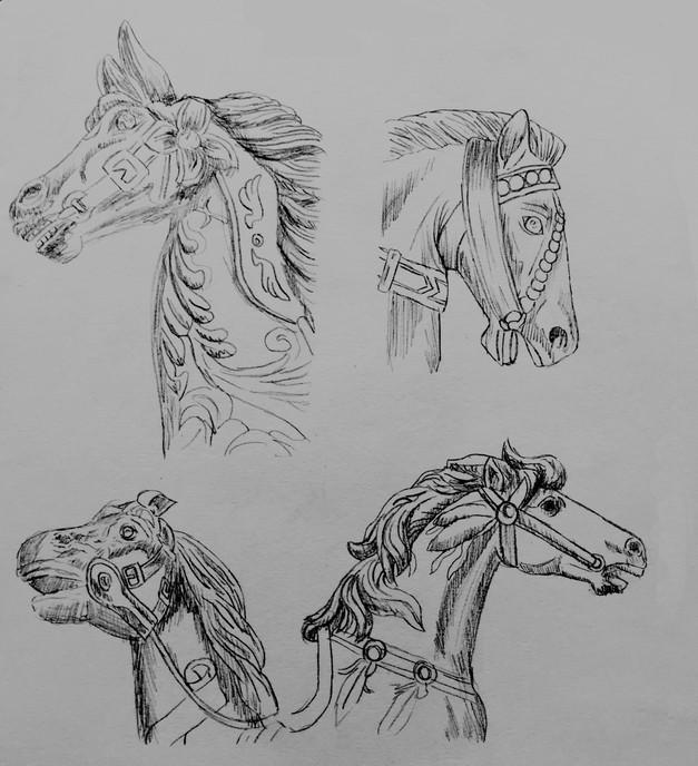 Carousel Horse Sketches