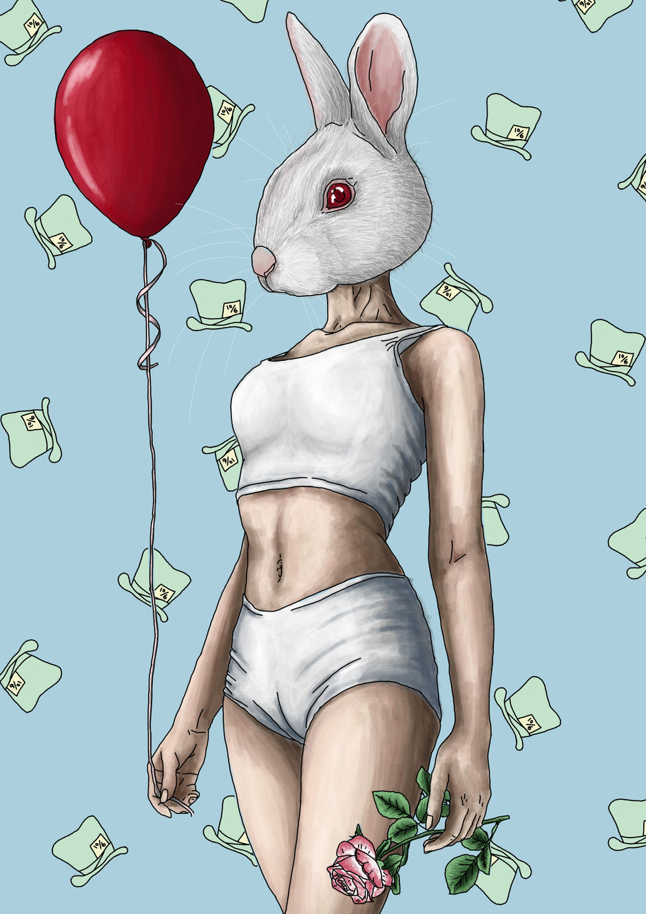 Mad Hatter Digital Painting