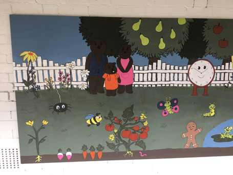 Nursey Rhyme Themed Wall Mural
