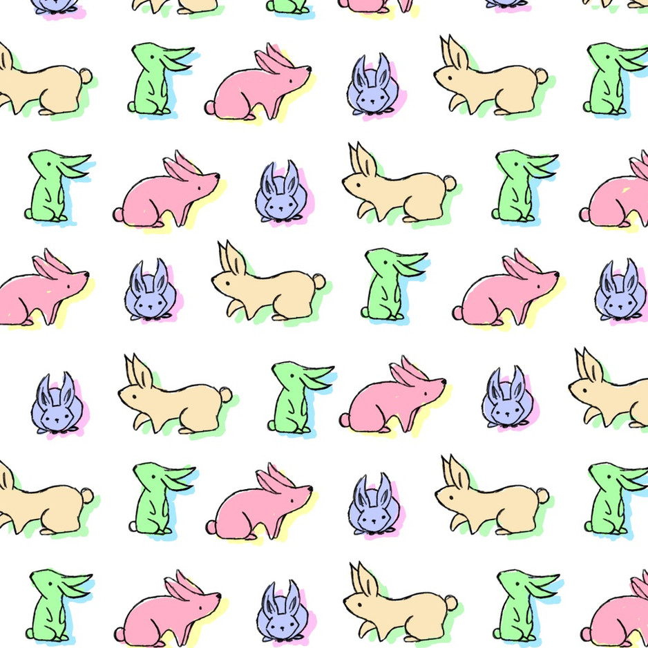 Bunny Coloured Repeat Pattern