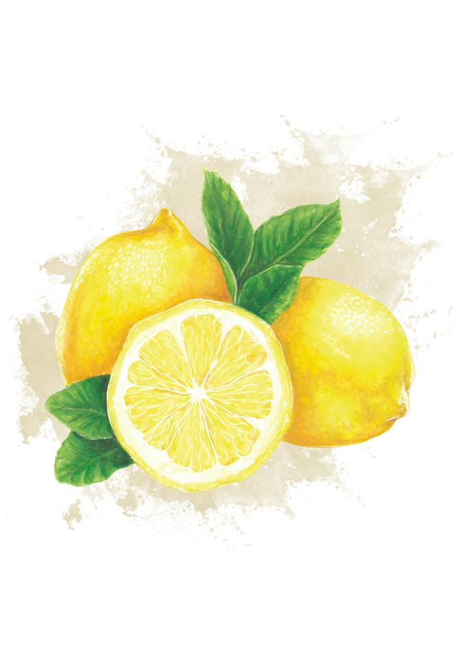 Watercolour Lemons