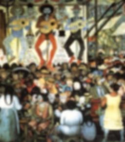 Le Jour des morts - Fresque murale de Diego Rivera (1924-1925)