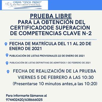 PRUEBA LIBRE COMPETENCIAS CLAVE N-2
