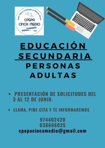 EDUCACIÓN SECUNDARIA PERSONAS ADULTAS