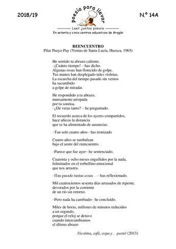 POEMA DE NUESTRA COMPAÑERA PILAR