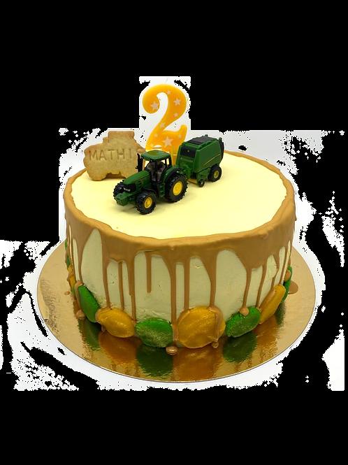 "copy of Cutom birthday cake ""Traktor"" Mathis 2 jaar"