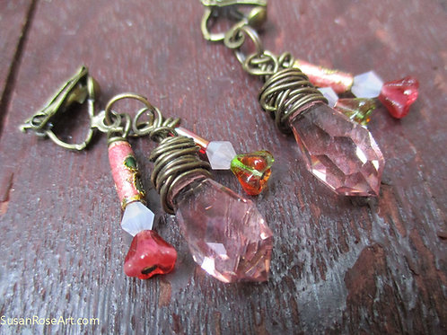 Faceted Glass Earrings.