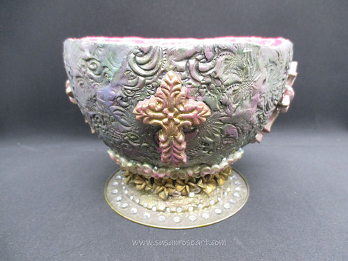 Chalice - Polymer Clay Mixed Media - Ornament