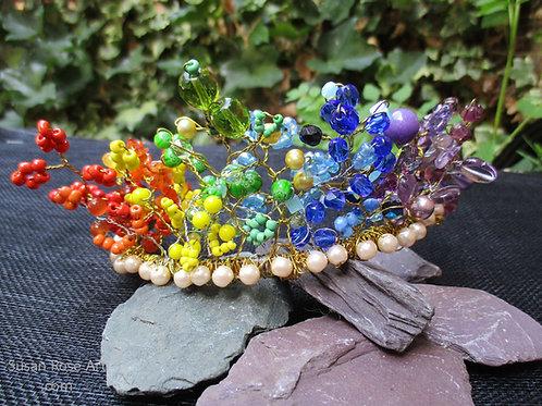 PRIDE Rainbow Bead Tiara LGBT Glory!