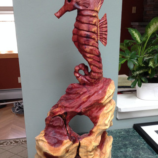 This carving is called The Journeyman. It was made for one of the founders of the parenting website Fatherly.com. I love how this came out. Carved from Red Cedar, the piece brings life to any room it's in.
