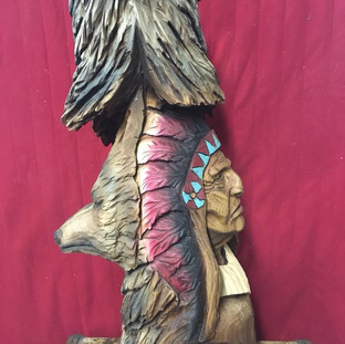 Any side can be the front of this totem.