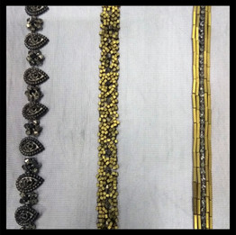 Black and golden trimming borders