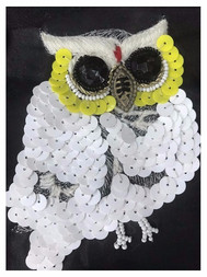 Owl embroidery and trimming