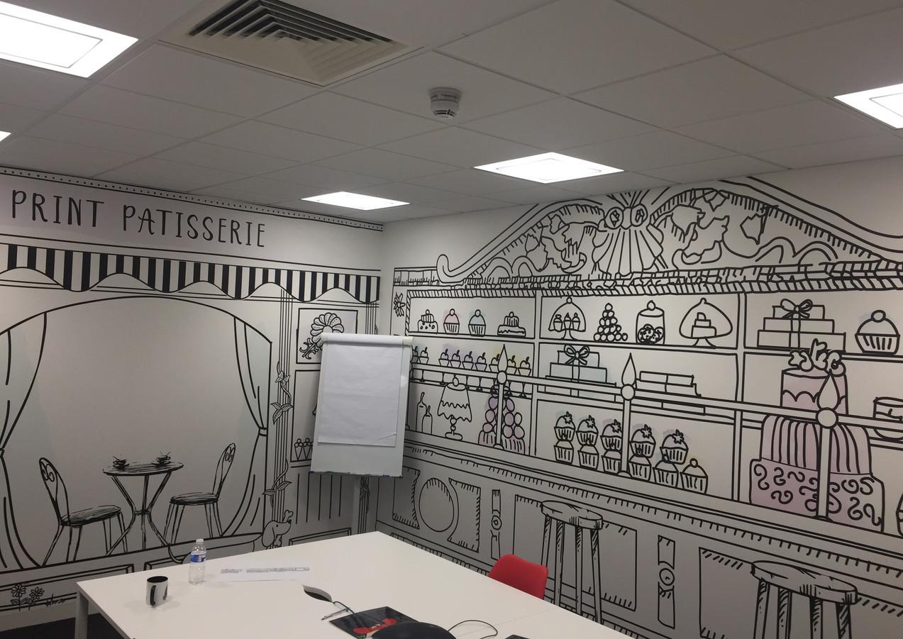 Wallpaper hangin in Office