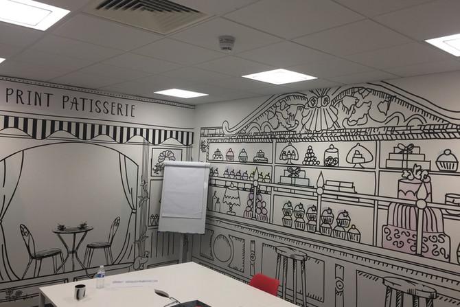 Design wallpaper in office, Essex