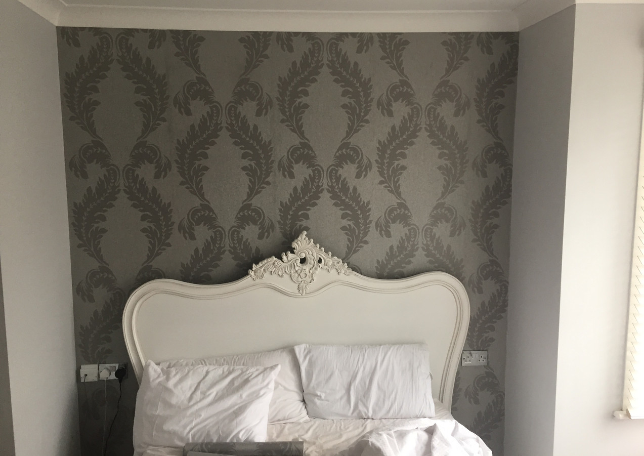 Feature wall in the bedroom London