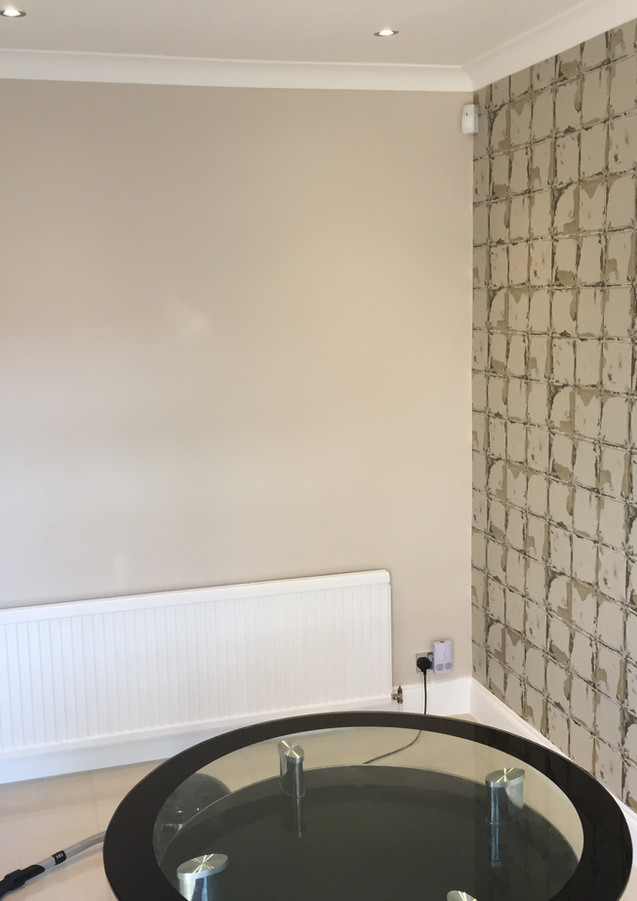 Ktchen feature wall wallpaper hanging in East London - Barking