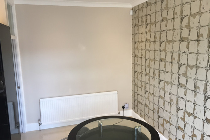 Feature wall in the kitchen. Essex