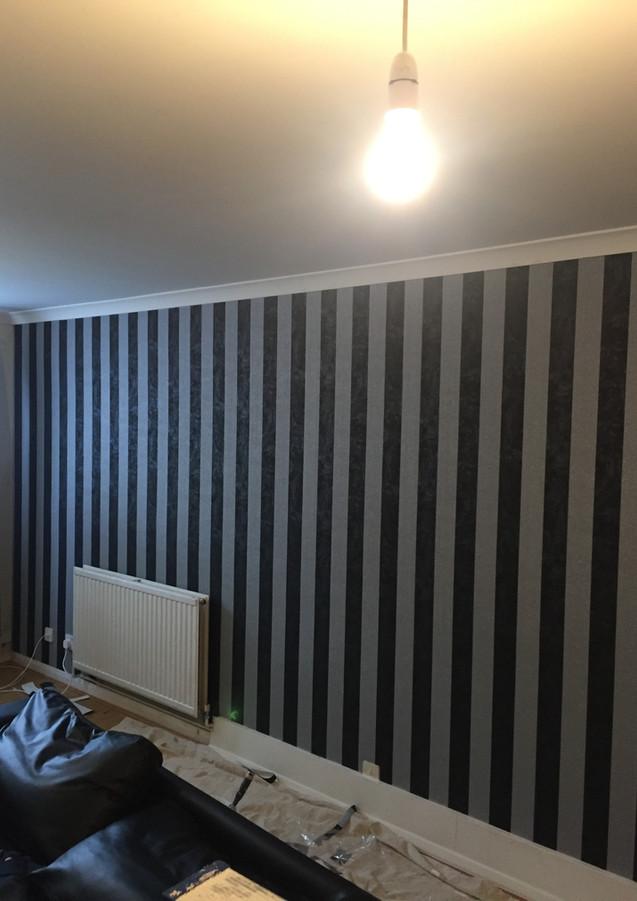 Wallpaper hanging in London