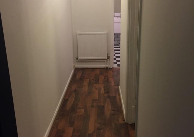 Wood floor in hallway