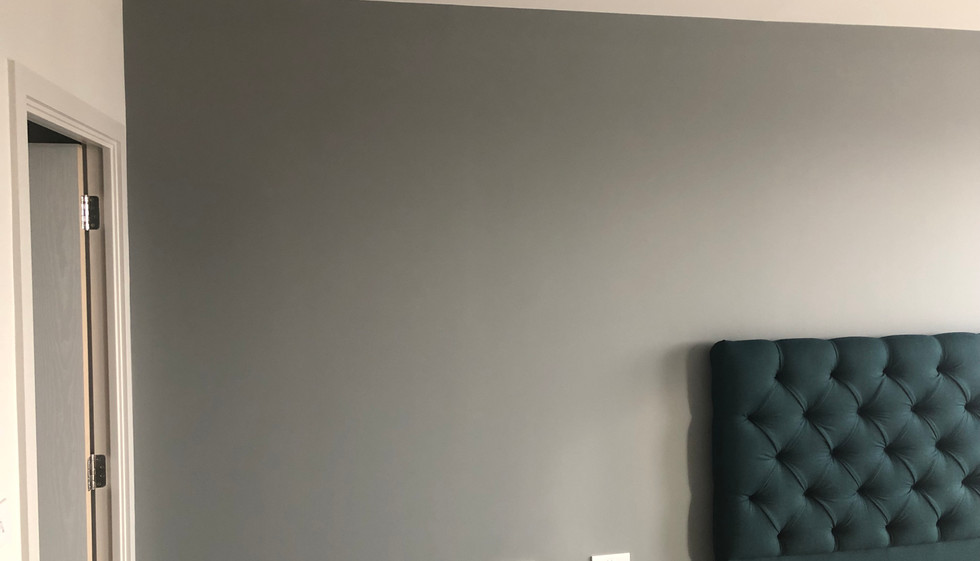 In Farrow and Ball painted Bedroom
