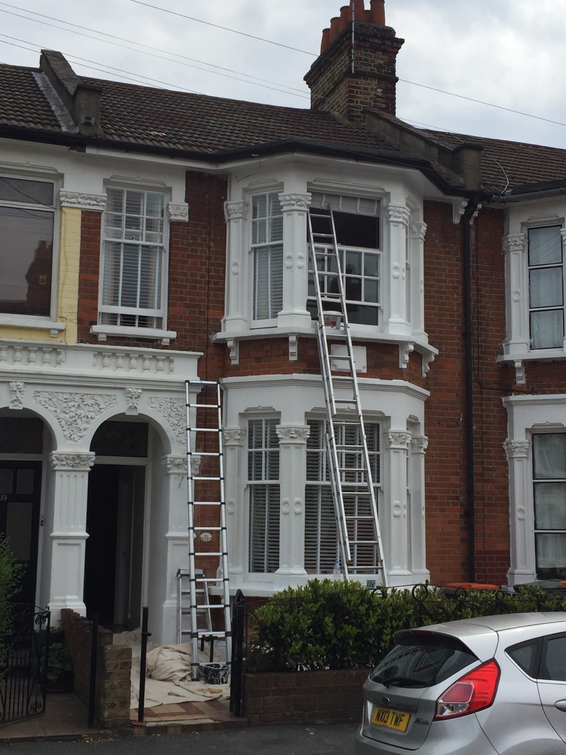 External painting in East London