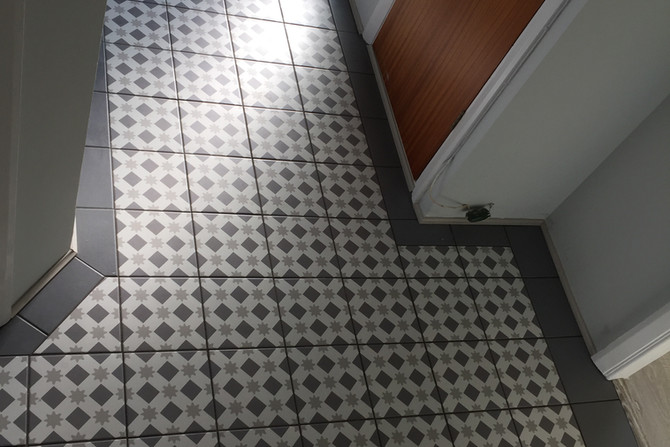 Hallway floor tiled mosaic
