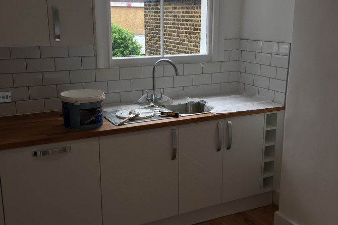 Tiles in the kitchen. Tiling service East London
