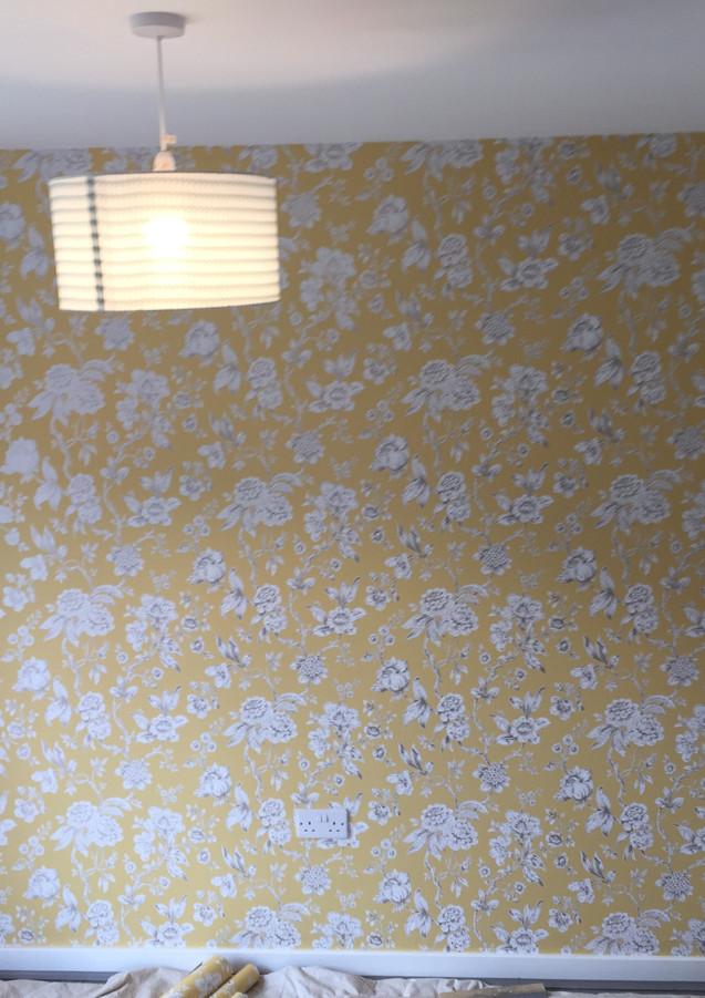 Wallpaper in living room Essex