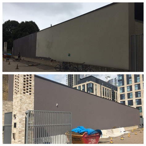 Exterior wall painting in South London