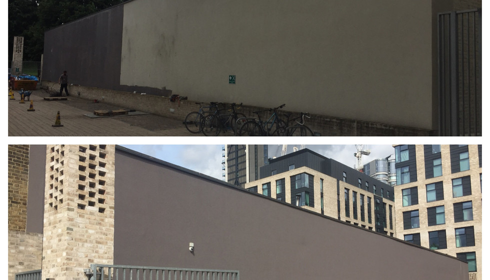 Exterior wall painting in Barking