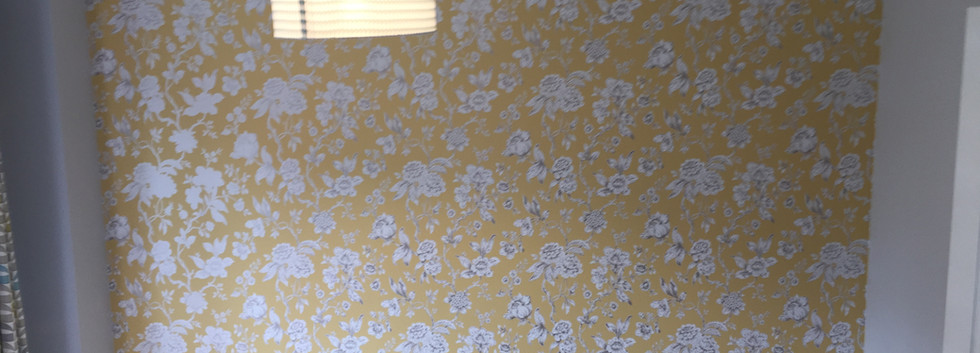 Wallpaper hanging in South London